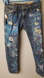 Ralph Lauren Painted Denim Jeans